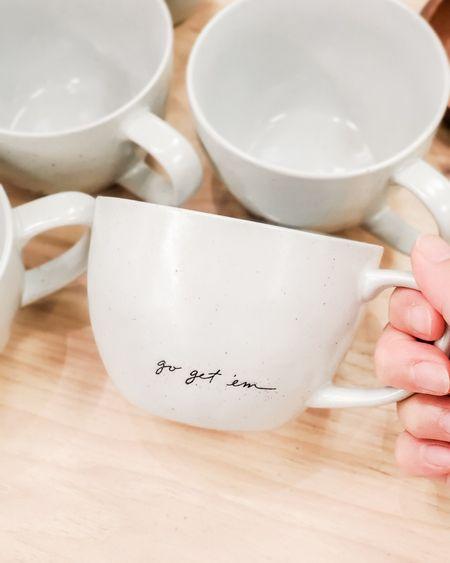 Target finds - go get 'em mug by Hearth and Hand Magnolia, coffee mug, motivational mug, target trends, targetfavefinds  #ltkhome