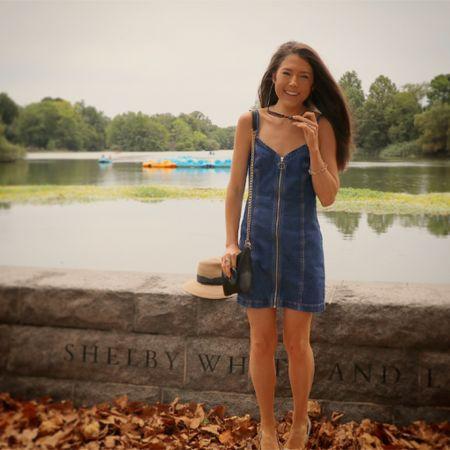 http://liketk.it/2xieQ #liketkit @liketoknow.it  @topshop #dress #fall #summer #denim #denimdress #sunhat #upf #nyc