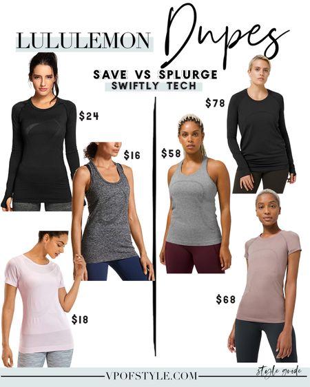Lululemon workout top dupes, lululemon workout tops, lululemon dupes, lululemon look alikes, workout tops, swiftly tech dupes, swiftly tech http://liketk.it/34UVZ #liketkit @liketoknow.it #LTKNewYear #LTKfit #LTKunder50