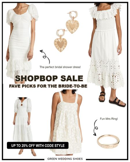 My favorite items from the Shopbop sale for brides-to-be. Dresses perfect for bridal showers, rehearsal dinners and more!   http://liketk.it/3cW5M #liketkit @liketoknow.it #LTKsalealert #LTKwedding