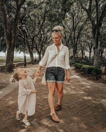When I start to understand child leashes ☝🏼😂This particular child has a hard time walking in a straight line, let alone wearing a mask 😜 But of course, we try. 😷  http://liketk.it/2RWqt @liketoknow.it #liketkit