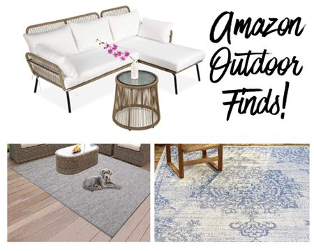 Lots of outdoor furniture and outdoor rugs from Amazon  . .  Shop your screenshot of this pic with the http://liketk.it/2VcC3 #liketkit @liketoknow.it LIKEtoKNOW.it shopping app @liketoknow.it.home #StayHomeWithLTK #LTKhome patio furniture outdoor sofa outdoor rug blue rug outdoor couch