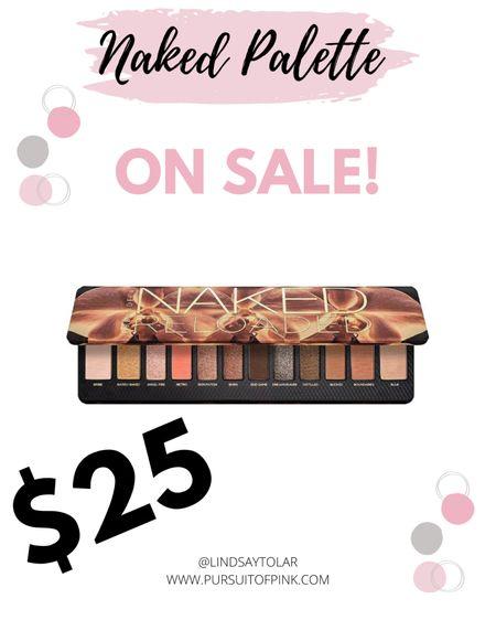 Naked Reloaded Palette on super sale!!! This Naked eye shadow palette is perfect for all skin tones.   #LTKbeauty #LTKgiftspo #LTKsalealert