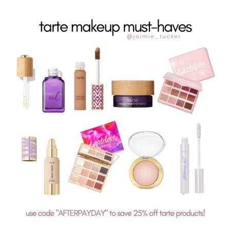 25% off Tarte Cosmetic Products by using the code AFTERPAYDAY. | #makeup #womensmakeup #makeupfinds #tartecosmetics #salealert #bestsellers #concealer #makeuppalette #skincare #womensskincare #JaimieTucker   #LTKbeauty #LTKSale #LTKstyletip