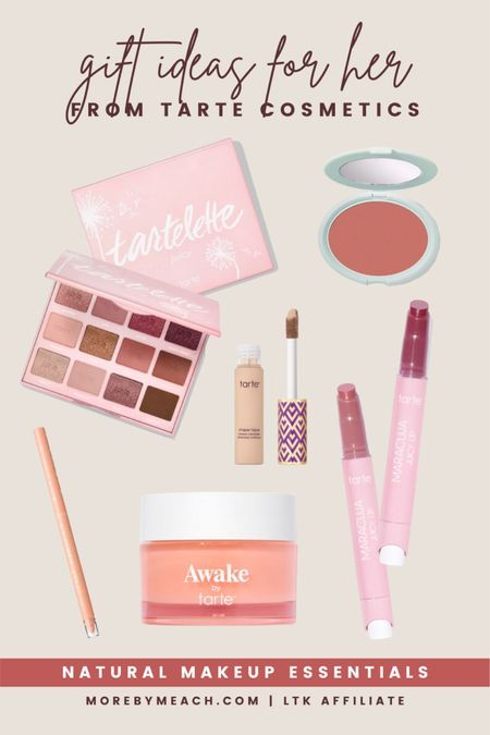 Some great beauty gifts for natural makeup looks, and they'll all be 25% off during the LTK sale! Save this post and come back to shop it when the deals go live on September 19th! 🤍 Tarte cosmetics, makeup sale, eyeshadow palette, lip balm, concealer, cream blush  #LTKSale #LTKHoliday #LTKbeauty