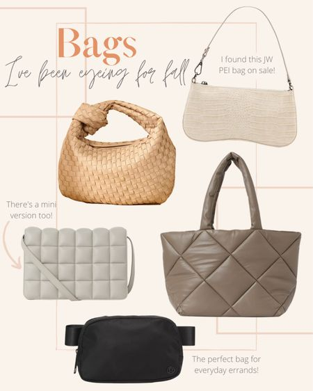 I've had my eye on these bags to add to my collection this fall! The small croc skin bag gives me major 90s vibes. I love the material of the quilted bags & the beige one is the perfect color for fall. Out of all of these, I'd probably use the fanny pack the most though.   #LTKunder50 #LTKSeasonal #LTKitbag