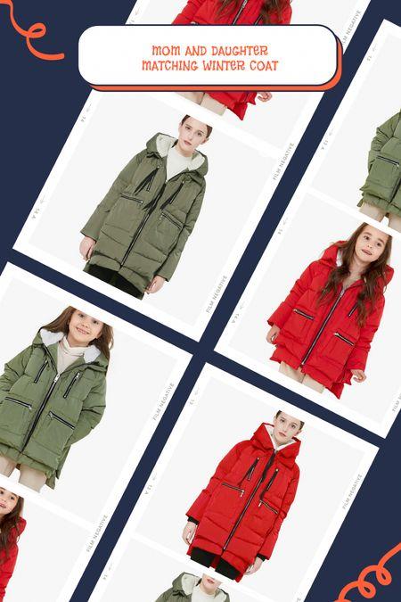 Matching Winter coats for mama and daughter, on ladies are on major sale.   #LTKSeasonal #LTKGiftGuide #LTKsalealert