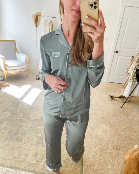 Amazon finds are on natalieyerger.com today, including these Amazon pajamas 🤍  This PJ set comes as a pajama short set too. Linked more Amazon pjs that have great reviews! I'm wearing a small.  #amazonfinds #amazonpajamas #amazonpjs #amazonfashion #pjset  #LTKSeasonal #LTKunder50 #LTKunder100 http://liketk.it/3hHMw #liketkit @liketoknow.it