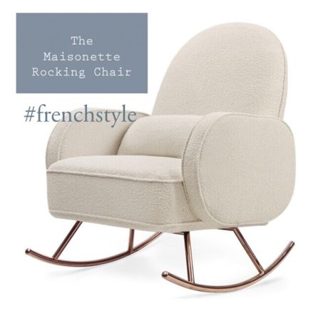 White rocking chair from maisonette.com The perfect nursery decor for a French style children's bedroom. Rock baby to sleep in comfort.   #LTKbaby #LTKhome #LTKkids @liketoknow.it.family @liketoknow.it.home http://liketk.it/36ouc #liketkit @liketoknow.it