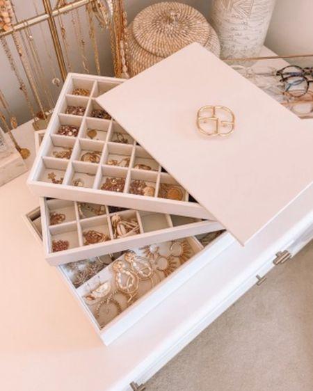 Jewelry organization | http://liketk.it/35uNg @liketoknow.it #liketkit   Danielle Gervino TikTok, jewelry organizer, Amazon jewelry organizer, Amazon finds, Amazon favorites