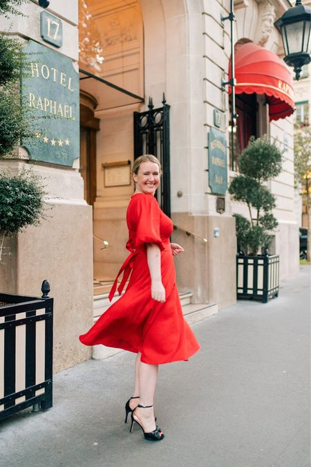 Red dress Holiday dress Kate spade dress (6) Bow heels Holiday outfit Wedding shoes   #LTKshoecrush #LTKHoliday