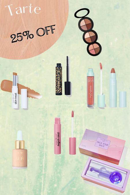 Tarte 25% off - #eyeshadow #mascara #lipgloss #spf #tintedmoisturizer #concealer / http://liketk.it/3hxfP #liketkit @liketoknow.it #LTKbeauty #LTKsalealert