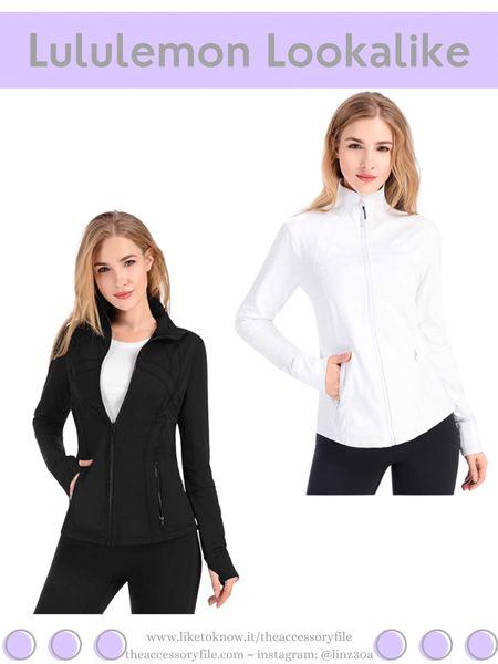 Lululemon lookalike jacket.   Amazon fashion, amazon find, workout clothes, gym clothes, loungewear   http://liketk.it/3hXkv   #liketkit @liketoknow.it #LTKfit #LTKsalealert #LTKunder50