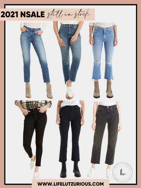 Denim still in stock from the Nordstrom sale! #nsale #denim #jeans #blackdenim #momjeans  #LTKsalealert #LTKstyletip