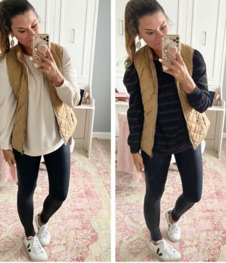 How to style a tan vest- Everything is true to size. Wearing a small in each piece. #justpostedblog  Fall Amazon  Vest   #LTKSeasonal #LTKstyletip #LTKunder100