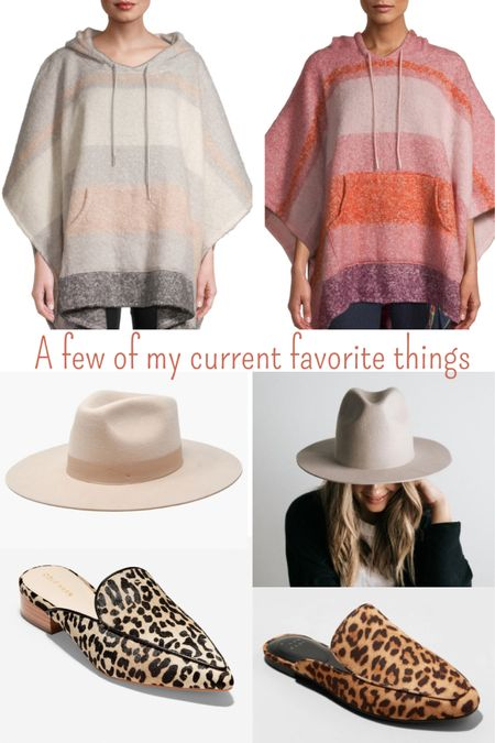 These are a few of my current favorite things!    A comfy poncho, leopard slides and throw on a stylish hat and you're good to go!    http://liketk.it/30Jos #LTKunder50 #LTKunder100 #liketkit  @liketoknow.it    You can instantly shop my looks by following me on the LIKEtoKNOW.it shopping app