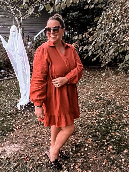Do you love a good fall dress? Well boy do I have one for you! This @katekasin.official dress is perfect! It's light weight, long sleeves, and comes in the perfect fall color! Buy it on @amazonfashion today! (Whole outfit pinkies in bio!)  Dress- @katekasin.official   Shoes- @anntaylor     Sunnies- @quayaustralia   #LTKSeasonal #LTKunder50 #LTKGiftGuide