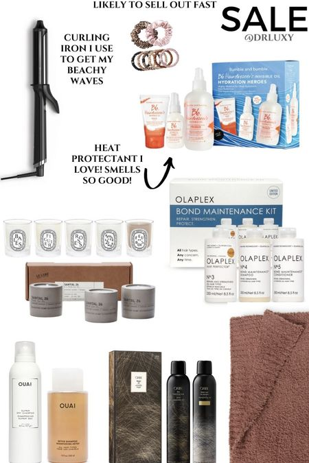 Nordstrom Anniversary Sale  #nsale  Haircare  Curling iron  Hear protectant  Olaplex  Candles At home spa day   See my blog post on DRLUXY.com to see how I use some of these products on my hair.     #LTKsalealert #LTKunder100 #LTKbeauty