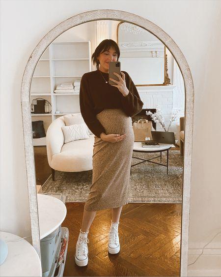 midi dress and cropped sweater for fall   #LTKbump #LTKSeasonal #LTKstyletip