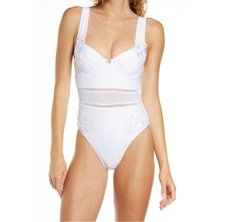 White swimsuits under $100, white bathing suits,    #LTKunder100 #LTKswim