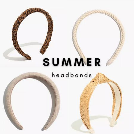 Beautiful rope, raffia, and leopard headbands.   Get your headband fix at Madewell today with $25 off orders of $125 with code LTKDAY  #LTKunder50 #LTKDay #LTKsalealert