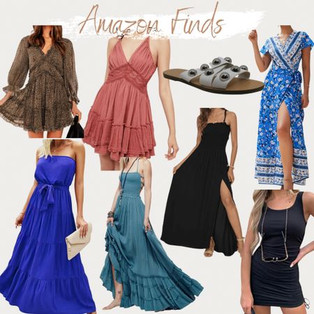 Amazon Fashion, Amazon Fashion Finds, found it on Amazon, maxi dress, ruffle dress, leopard dress, bodycon, sandals, flat sandals, summer style, summer outfit, vacation outfit, dress, dresses, affordable dresses, affordable outfits, budget friendly styles   #LTKunder50 #LTKstyletip #LTKunder100