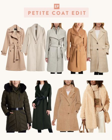 petite coat edit: puffer, trench, tailored, teddy // well stocked petite options for each of my must-have styles of coats for fall and winter   •BR trench coat •Abercrombie wool blend coat •Calvin Klein wrap coat •Michael Kors belted wrap coat •Calvin Klein plaid coat •Michael Kors puffer coat  •Tahiti belted wrap coat •DKNY teddy coat •BR teddy coat  #petite  #LTKSeasonal