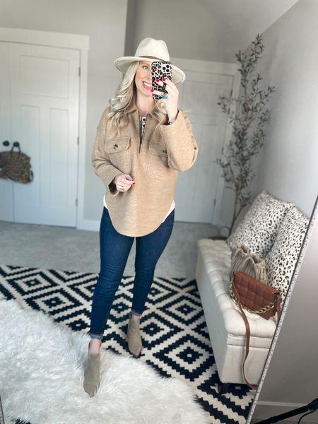 Madewell wool pullover- m Striped henley- m Spanx jeans- m, size up!    #LTKstyletip #LTKSale #LTKsalealert