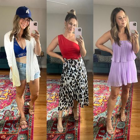 Amazon fashion finds for summer! Rounded up all of my favorite summer amazon finds! This swimsuit, jean shorts, swimsuit coverup, sandals, wrap skirt, cropped top and little romper are all amazon finds!   #LTKstyletip #LTKunder50 #LTKshoecrush