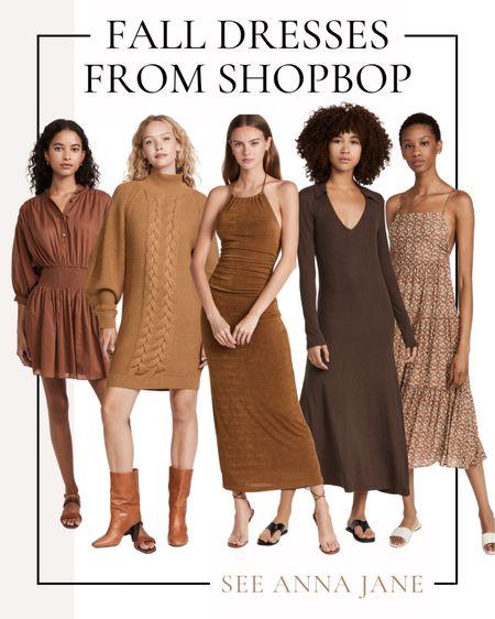 Fall Dresses In My Cart 🍂  #falldress #fallfashion #fallstyle #maxidress #shopbop #fallclothing #falloutfits #falloutfitideas #browndress #fallclothing  #LTKSeasonal #LTKstyletip