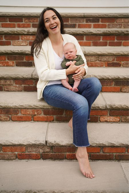 Pre-fall look j. Crew jeans, Amazon sweater, baby boy outfit   #LTKfamily #LTKbaby