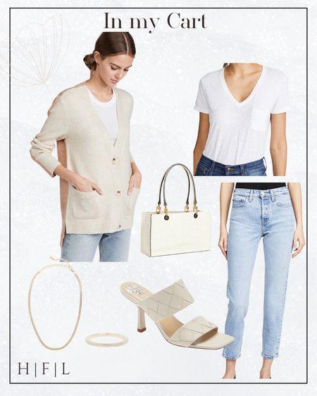 Neural outfit for fall, two tone sweater #nsale heels Staud Bag   #LTKsalealert #LTKunder100 #LTKstyletip