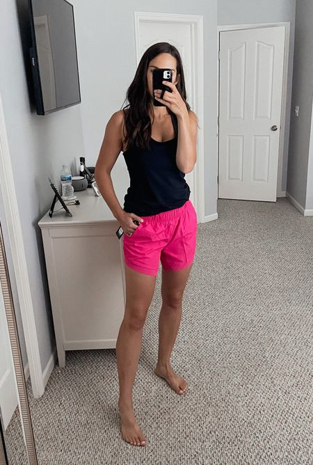 Walmart workout shorts/ running shorts on sale for $7! These have great length on the inseam and booty coverage 🙌🏻 wearing a medium.   #LTKsalealert #LTKfit #LTKunder50