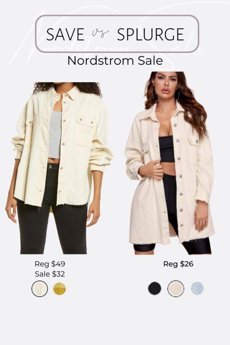 http://liketk.it/3jRLd #liketkit @liketoknow.it #LTKsalealert #LTKunder50 #LTKunder100 Nordstrom NSale favorite picks and dupes corduroy distressed jacket
