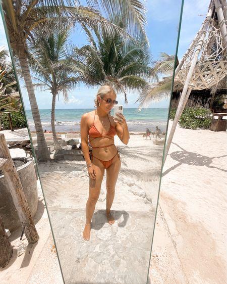 Can't believe summer is almost over ☀️ However, I'm ready for fall 🤩🤩🤩 Are you team summer ☀️ or team fall 🍁? Also my swimsuits from VS are on MAJOR clearance right now. . . . #summer #summergoals #vsswim #summerfun #funinthesun #tulum #bikinibabe #bikinibody #somewhereonabeach #toesinthesand #beachselfie #ltkswim #victoriassecret  #LTKtravel #LTKsalealert #LTKunder50