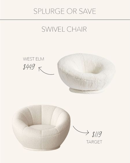 Splurge or Save   Swivel chairs perfect for a kids bedroom or playroom ☁️   #LTKhome #LTKkids #LTKstyletip