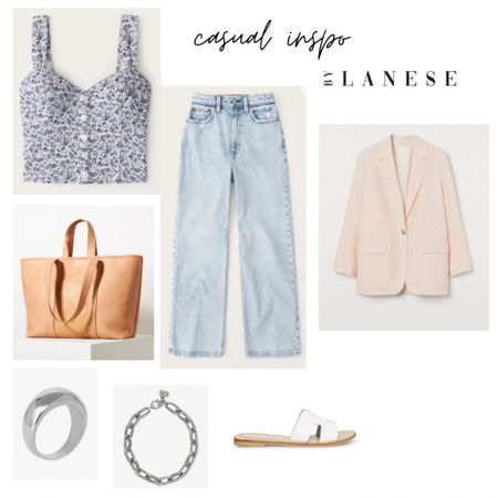 Denim casual outfit  Stunning high waisted straight jeans with a floral top and white sandals   @liketoknow.it #liketkit #LTKstyletip #LTKunder50 #LTKunder100 http://liketk.it/3ep4U
