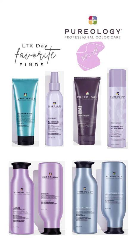 LTK Day Favorites - Pureology 30% off! Shampoo. Conditioner. Hair care. Purple shampoo. Blonde Haircare. Dry shampoo. Texture spray. Beach waves.  #LTKsalealert #LTKbeauty #LTKDay