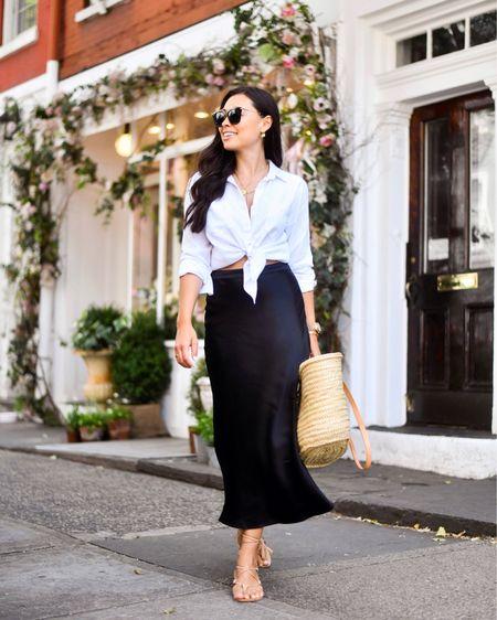 Silk skirt and tray tote. http://liketk.it/3i6TF #liketkit @liketoknow.it #LTKunder100 #LTKstyletip #LTKshoecrush