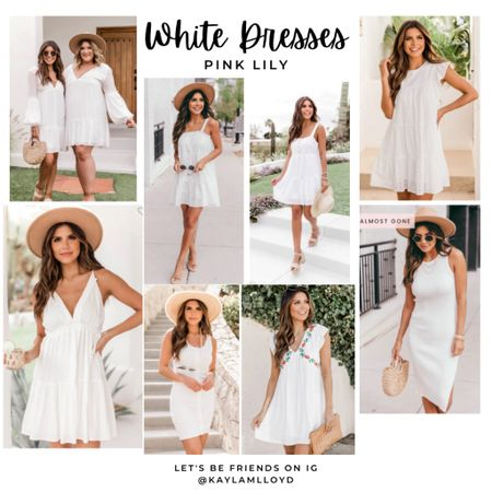 Easy summer white dresses from Pink Lily! These are stunning and so feminine. http://liketk.it/3f6N8 @liketoknow.it #liketkit #LTKstyletip #LTKcurves #LTKunder100