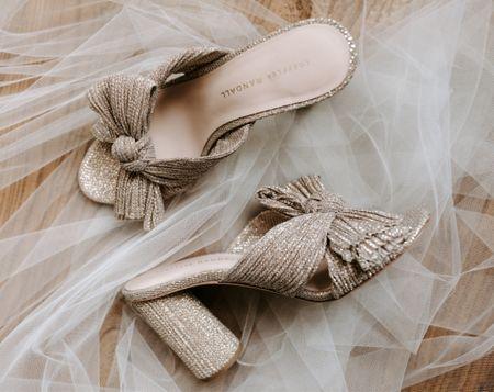 Wedding shoes, bride shoes, Loeffler Randall heels, metallic heels   #LTKshoecrush #LTKwedding