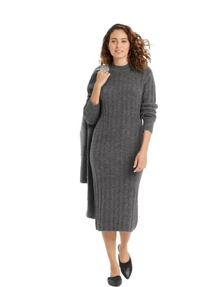 Sweater dresses are in for fall. Target has this cute long sleeve ribbed knit sweater dress a great price. #LTKWomen #LTKFashion #LTK #LTKFall  #LTKworkwear