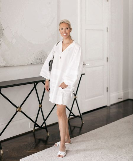 White dress / white dresses / white sandals / summer style   #LTKstyletip #LTKshoecrush #LTKbump