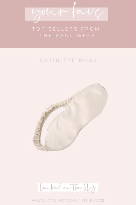 Perfect gift idea for your mom, sister, friend or anyone who needs a little spa night: this affordable satin eye mask. Would be such a great stocking stuffer or perfect to add to a beauty spa kit. http://liketk.it/33omD #liketkit @liketoknow.it #LTKgiftspo #StayHomeWithLTK #LTKunder50