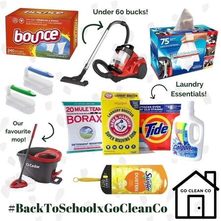 Get #cleaningarmy ready for Back to School with our top picks to keep your budget and mess under control! #gocleanco #timeisthenewcurrency #ltkhome #ltkclean