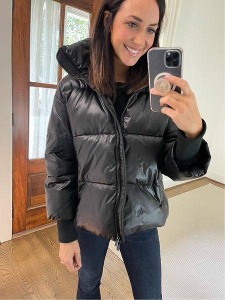 Such a great puffer coat from Amazon 🙌 wearing a large   #LTKSeasonal #LTKunder100