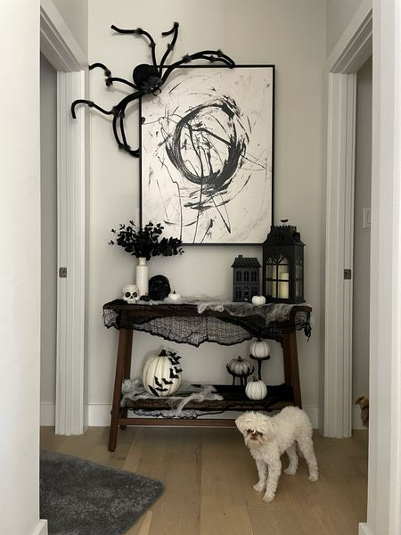 Got all of my Halloween decor linked along with my art work and wood console table! There were a few things I couldn't find but linked as much as I could. Home decor, seasonal decor, home decoration, home inspo, Halloween decorations, Halloween decor, fall decor   #LTKhome #LTKstyletip #LTKHoliday