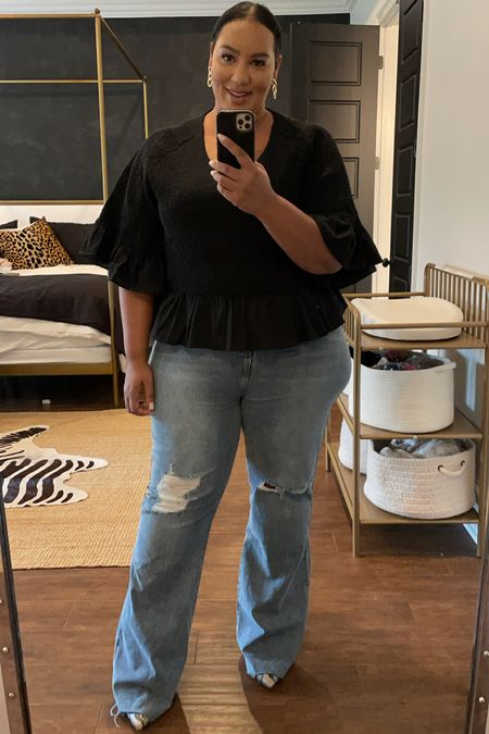 The cutest flare jeans that go up to size 18. Flares are the new skinny!   #LTKstyletip #LTKcurves