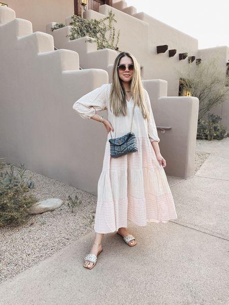 Summer dress and denim purse 🖤