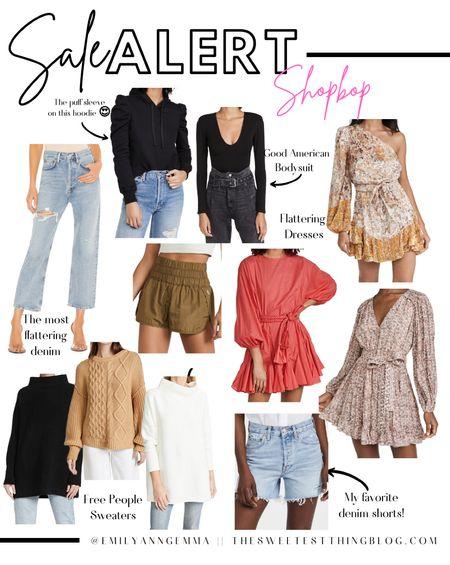 Shopbop sale picks, Sale Alert, Flattering Jeans, Agolde Jeans, Free People Sweater, Agolde shorts, Fall Outfits, Emily Ann Gemma,  http://liketk.it/3pzYP    #LTKsalealert